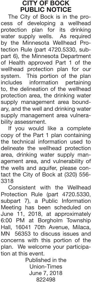 Wellhead Protection Notice