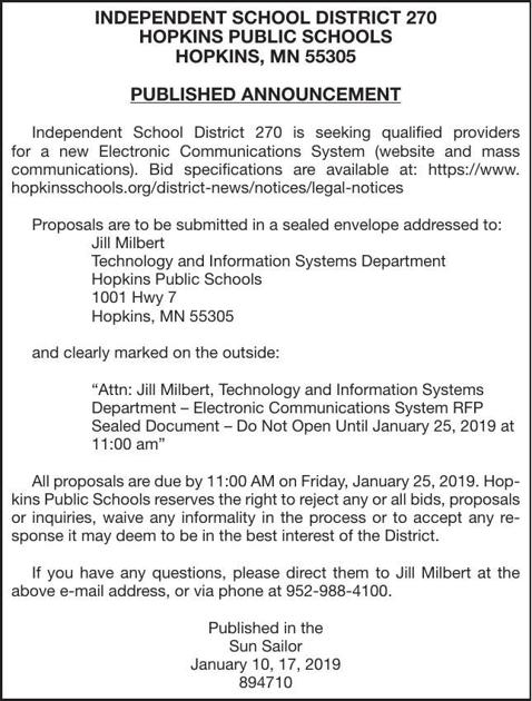 Electronic Communications System | Advertisement For Bids