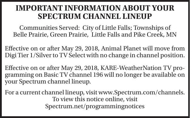 Spectrum Channel Lineup | Township | hometownsource com