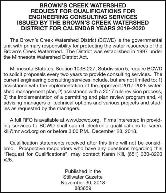 Engineering Consulting Services BIDS | Advertisement For