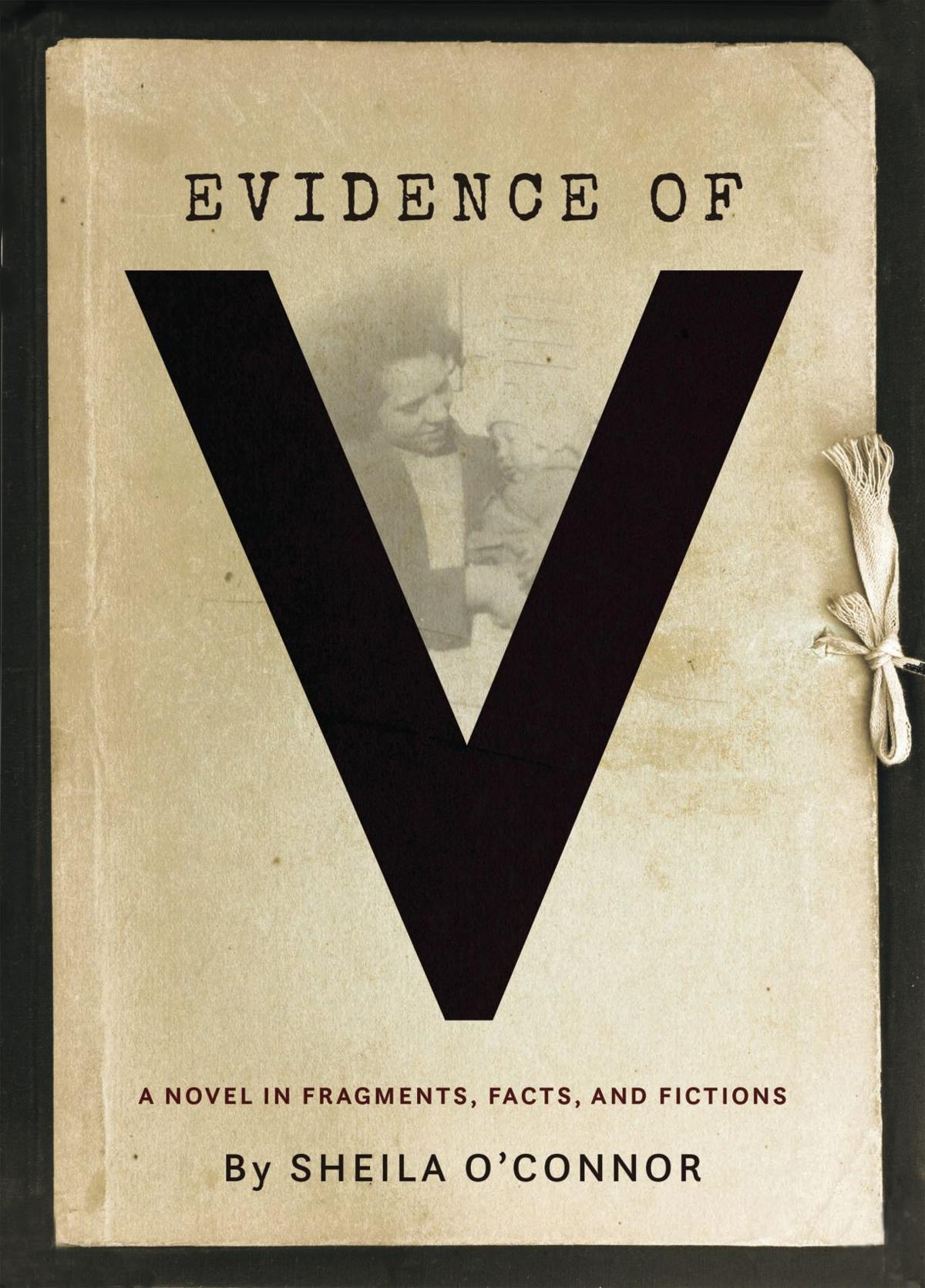 """Evidence of V"" book cover"