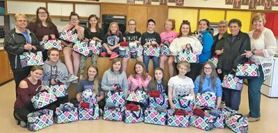 LF students make care bags for chemo patients in Morrison County