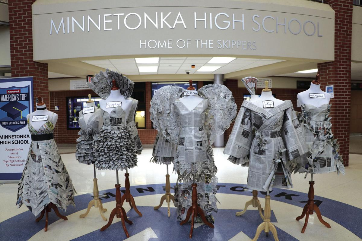 Dress To In Press Minnetonka Students Create Fashion From Newspapers Excelsior South Lake Hometownsource Com