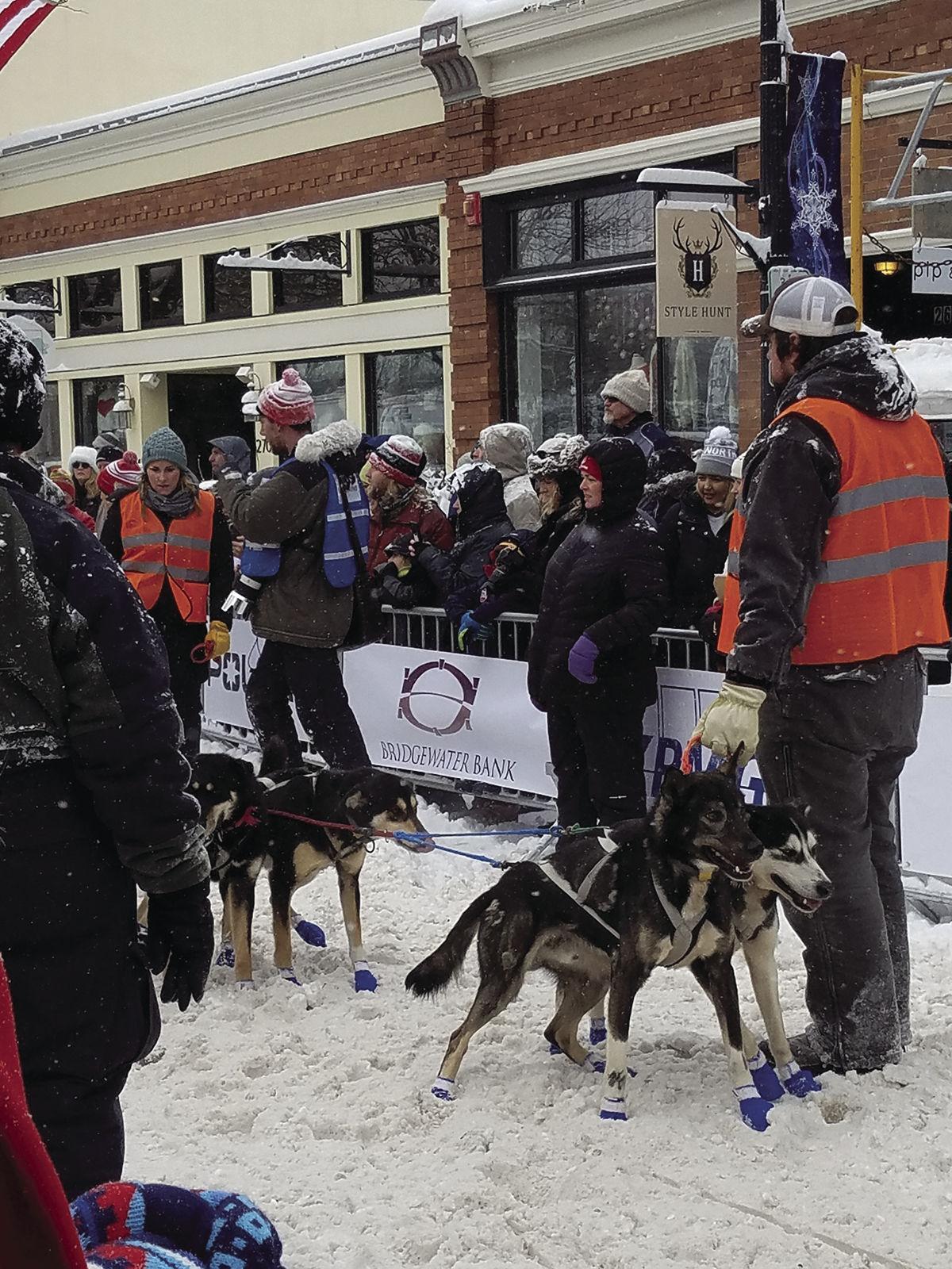 FW13NWLakerPioneerklondike Crowds, dog team 2 min before go time.jpg
