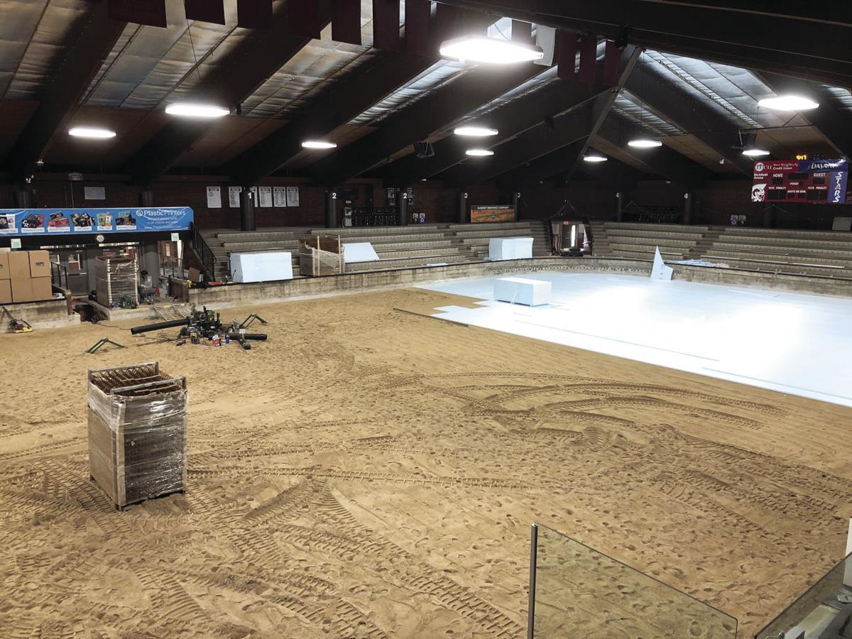 Rink 1 sand-based floor