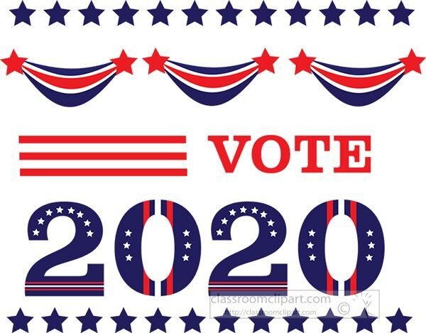2020 presidential election vote clipart illustration