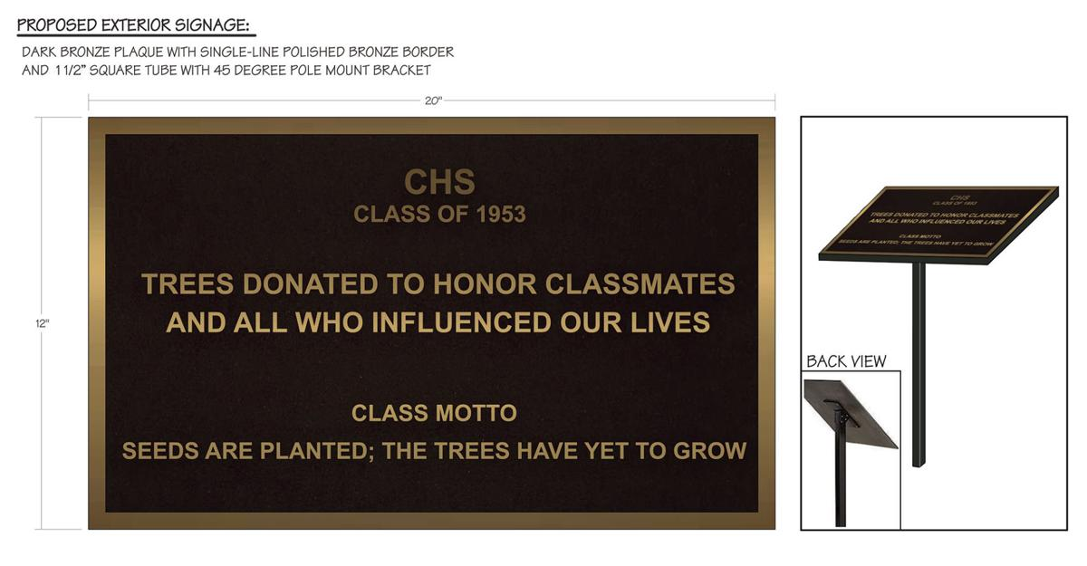 A plaque to be made