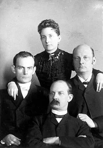 Younger Brothers with sister Henritta 1889 - Bob left, Jim center, Cole, right..jpg