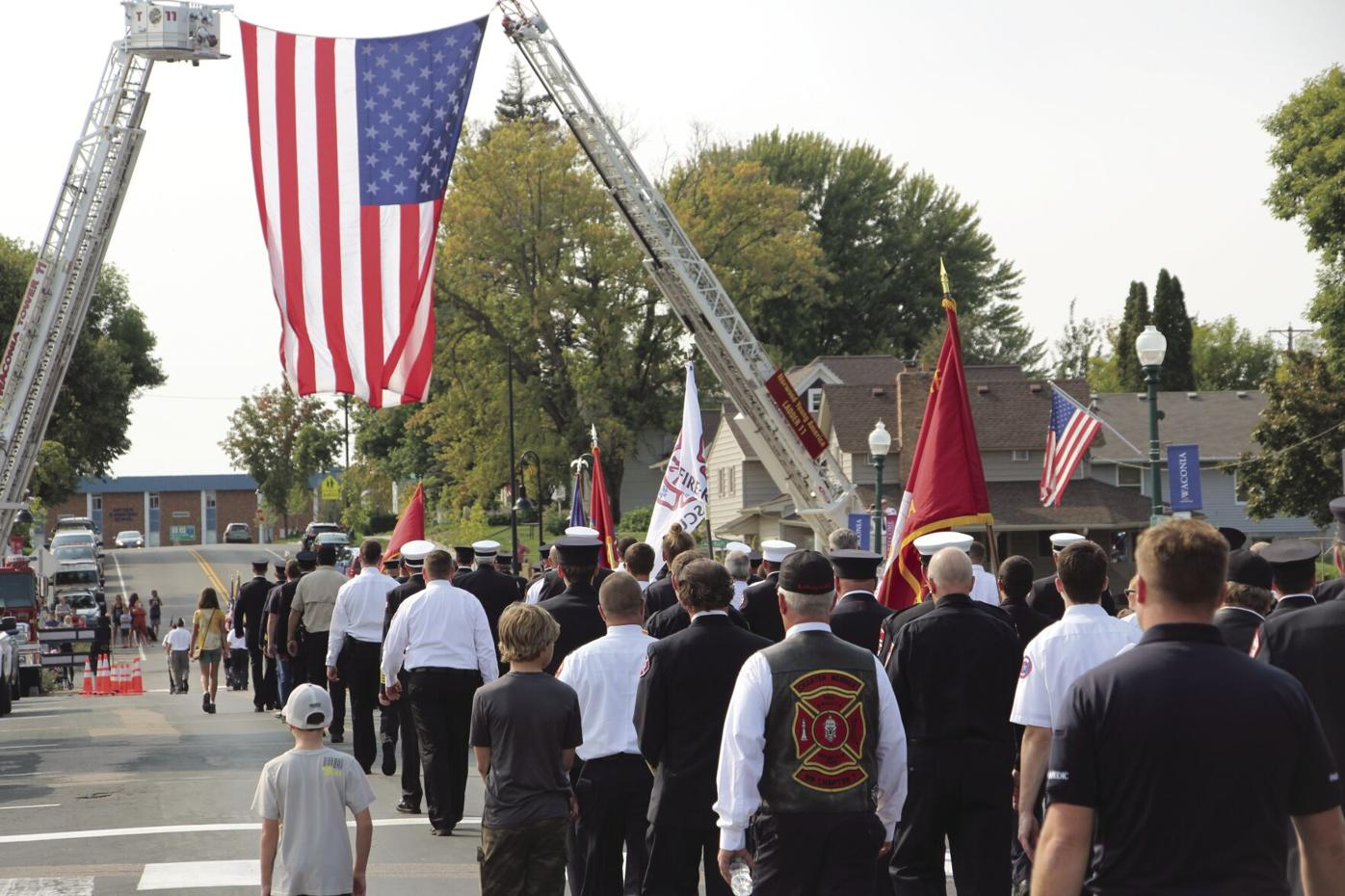 911 Walk under flag 1.JPG