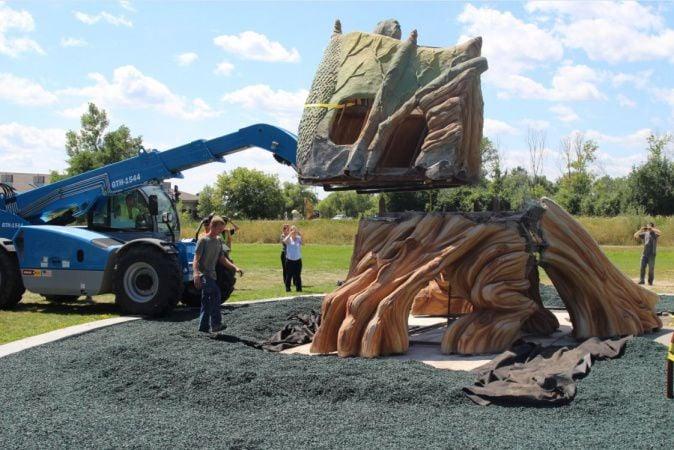 Cedar Park dragon roars to life