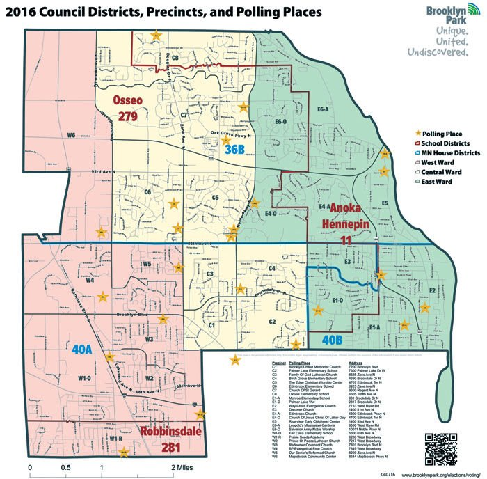 Election update Four Brooklyn Park polling places change this year