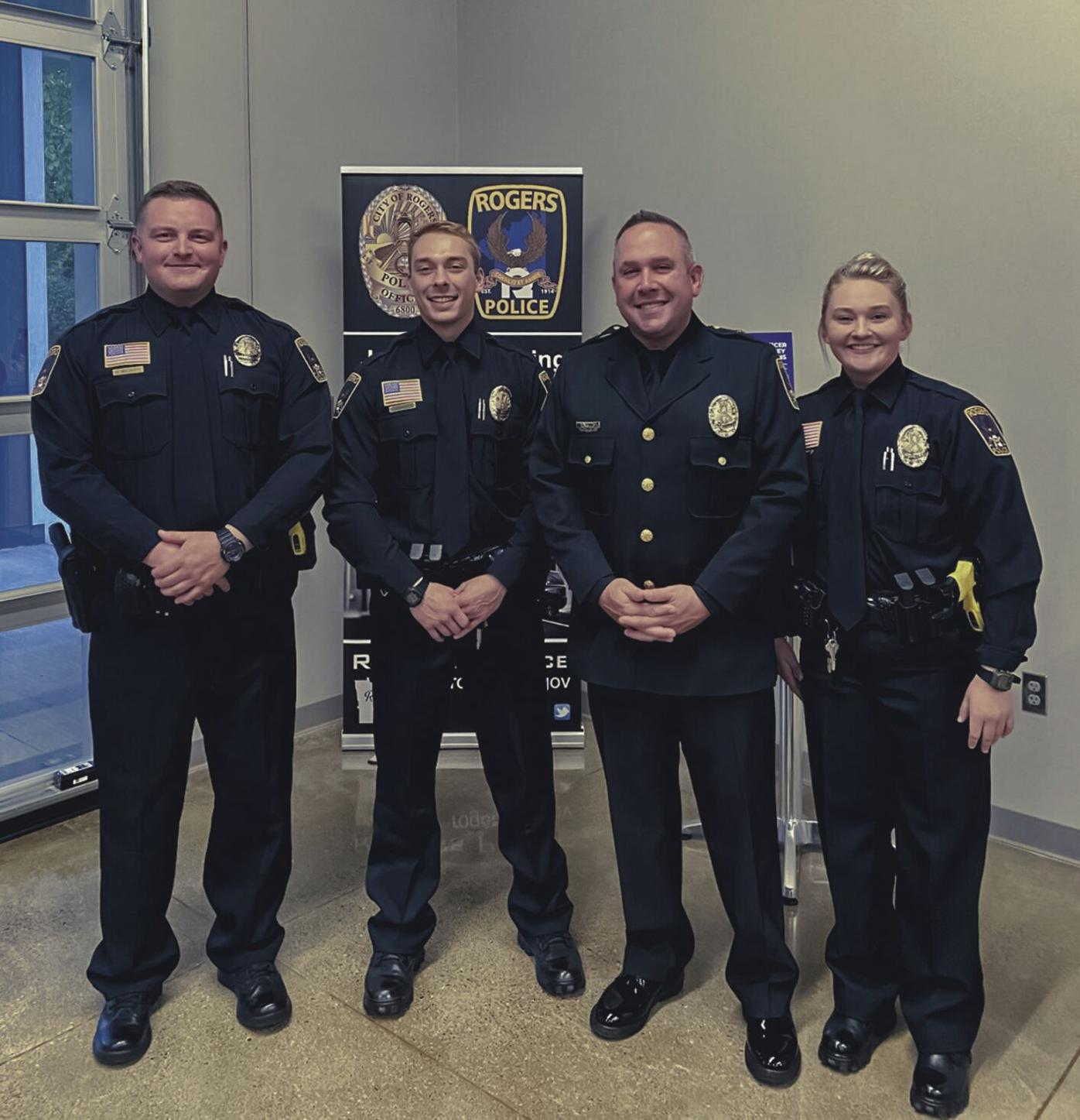 3 new cops sworn in at Rogers Council meeting, 2 officers promoted