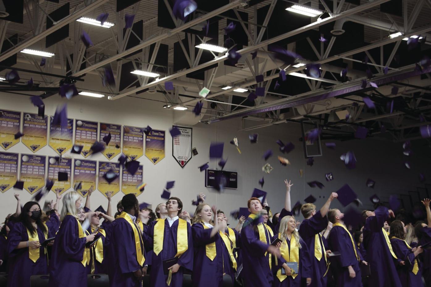 Graduation 2021 hat toss.JPG