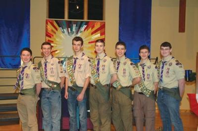 Afton Boy Scout troop reach Eagle Scout award together