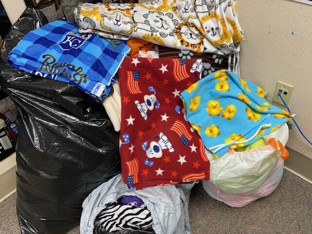 Cooper students collecting fleece for furry friends