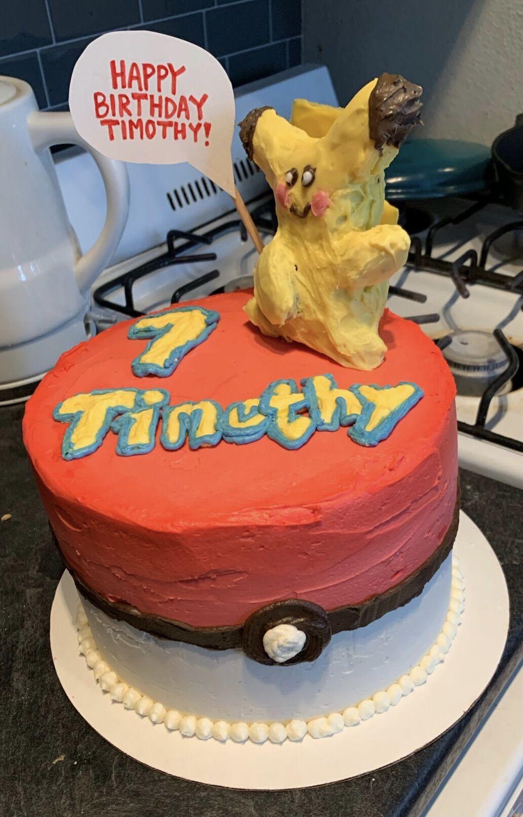 Timothy birthday cake