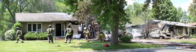 Early afternoon New Hope fire damages two homes