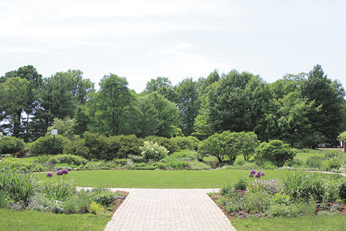 The gardens feature a mix of native and exotic plants and historical structures from the original Noerenberg estate. (Diana Stein/The Pioneer)