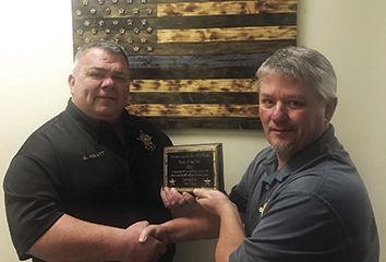 Sheriff's Posse Awards to Tom Twice