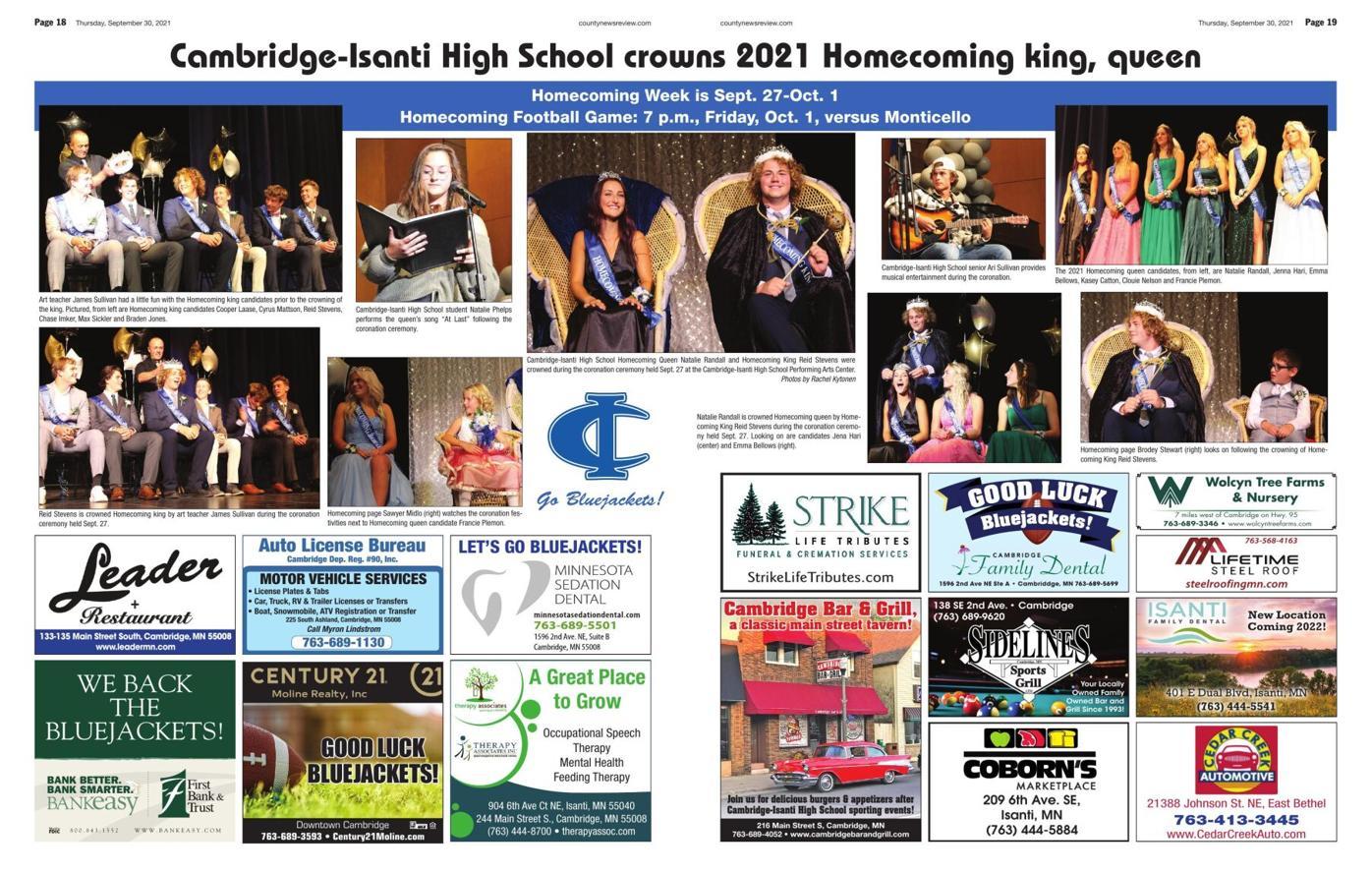 Cambridge-Isanti 2021 Homecoming Coronation