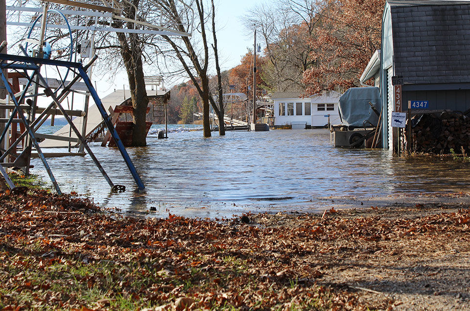 Lake Shamineau's rising water levels a living nightmare for homeowners