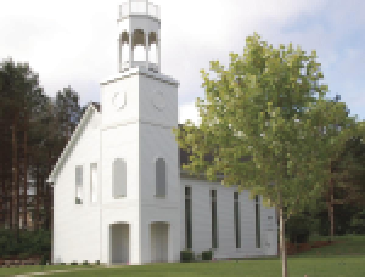 boutwells landing completes replica of historic church