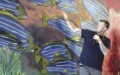 Limpio at mural unveiling