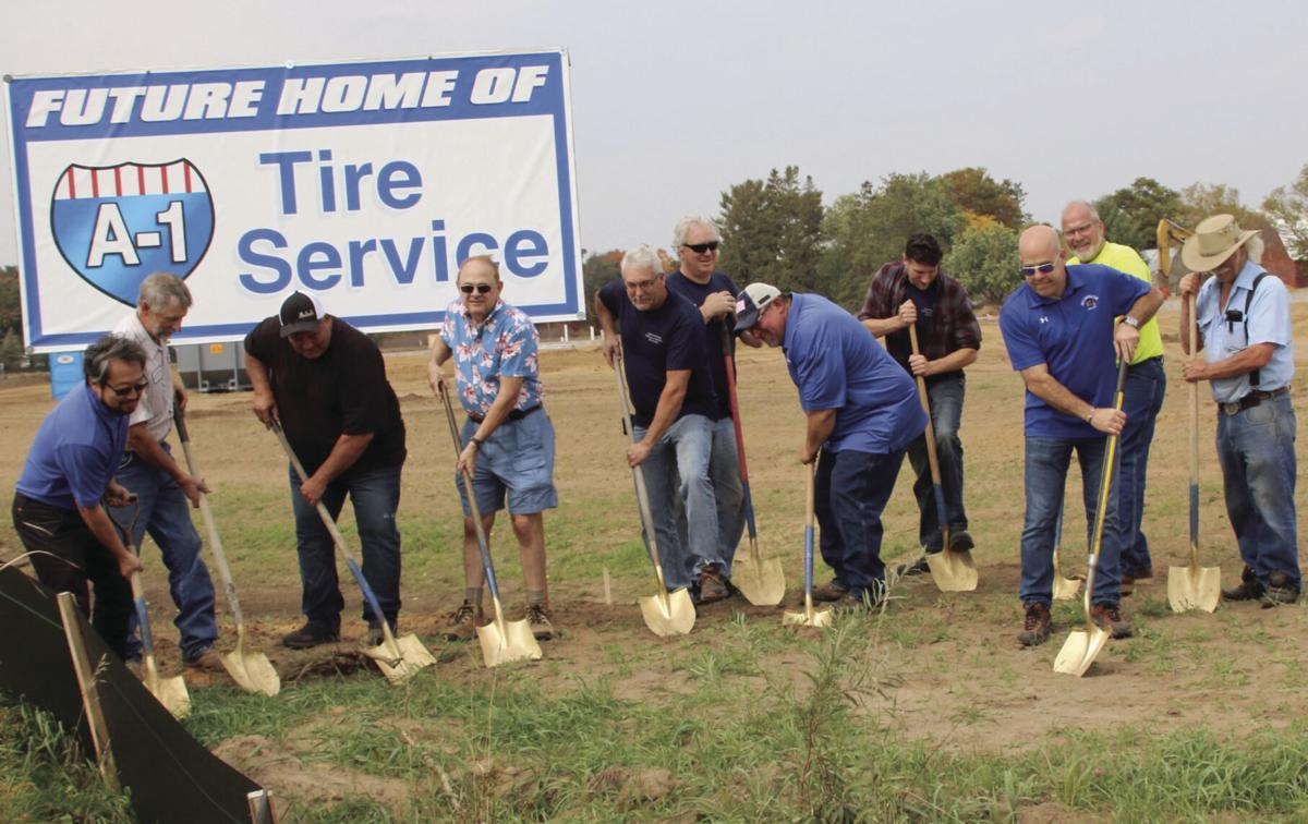 Breaking ground A-1 Tire Service