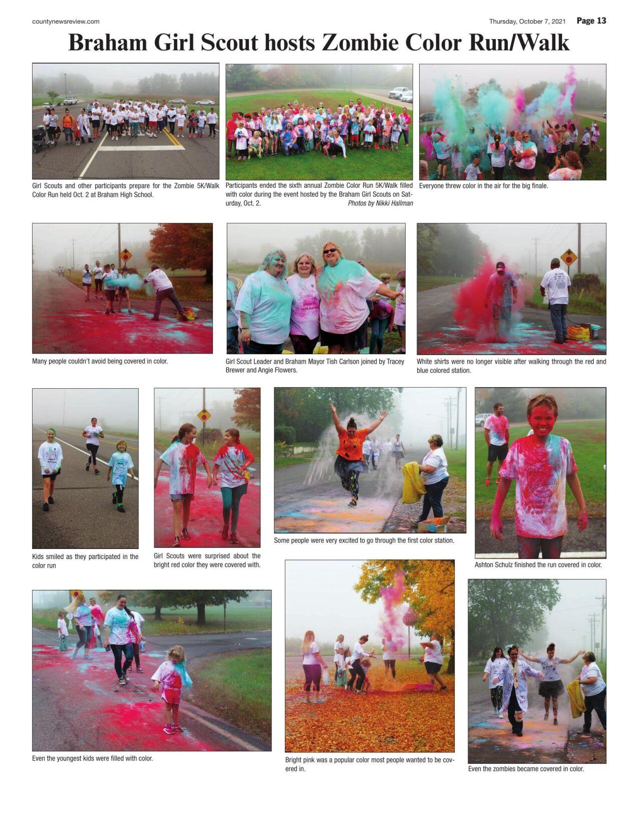 Braham Girl Scouts host Zombie Color Run/Walk
