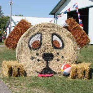 Hay Bale Art Decorating Contest