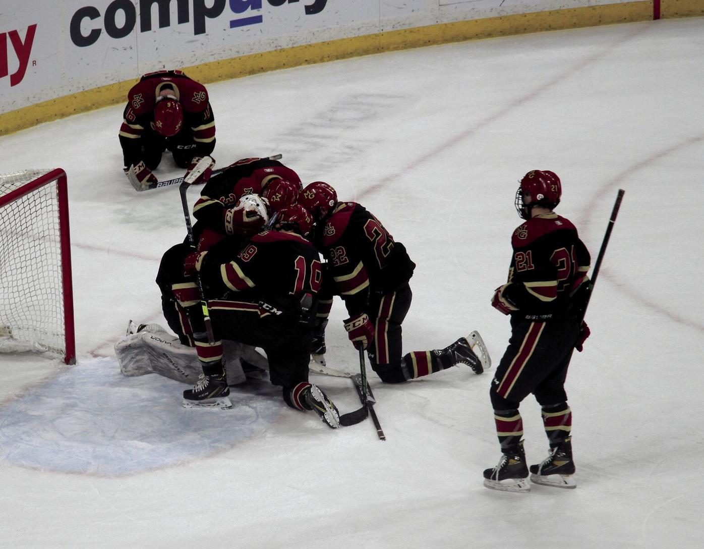 UPDATED: Eagles top Crimson boys hockey 6-5 in OT thriller