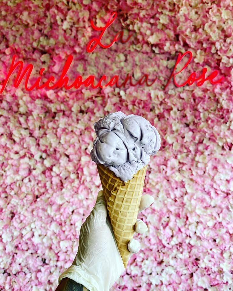 Taro ice cream