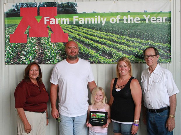 Ley Family with Extension Agent