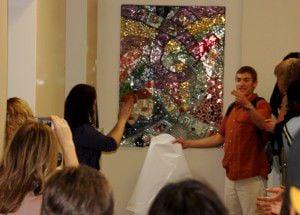 Mosaic unveiled at Sandburg center