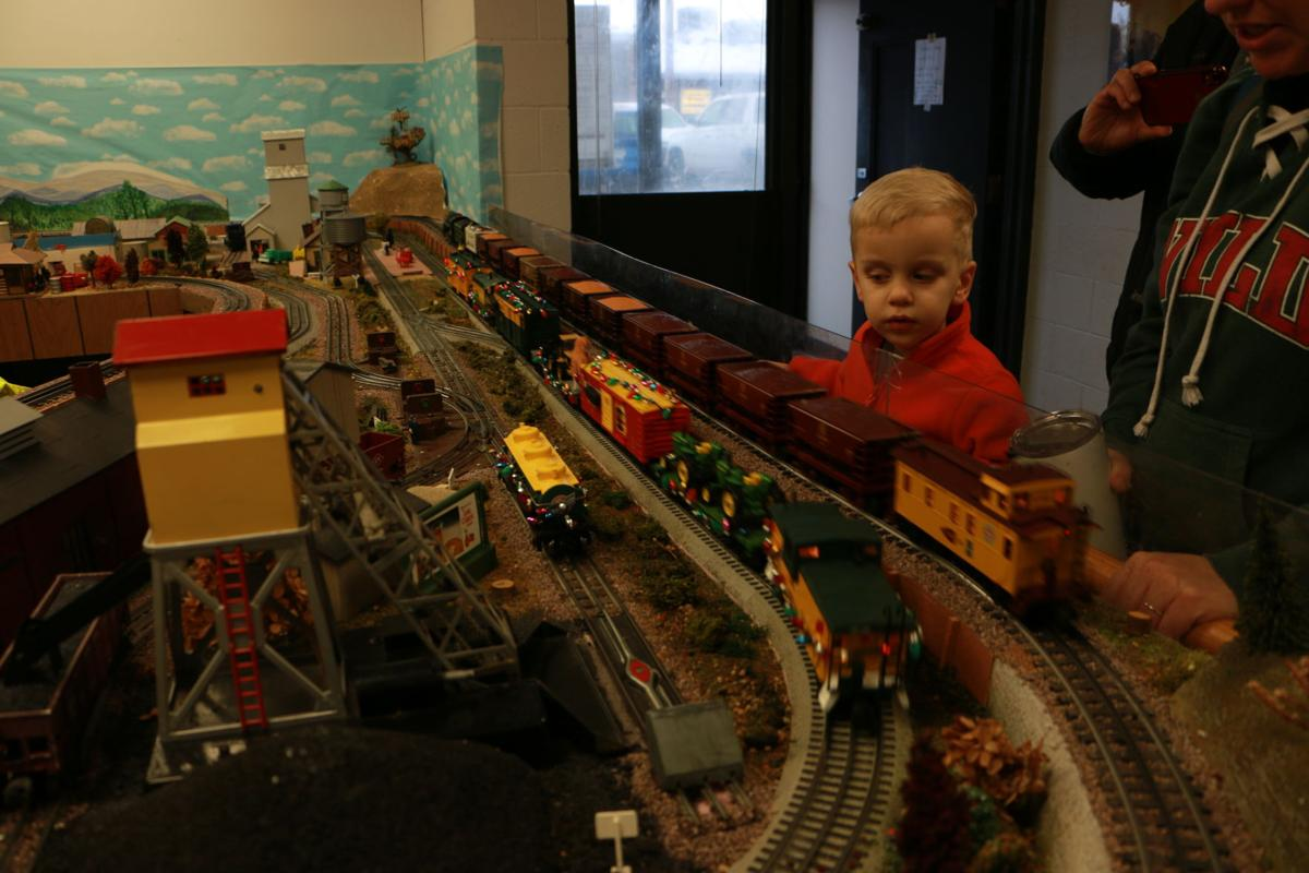 Young, curious trainspotter