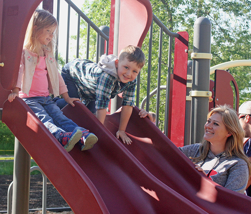Bowlus celebrates opening of new, fun and safe playground by the Community Center