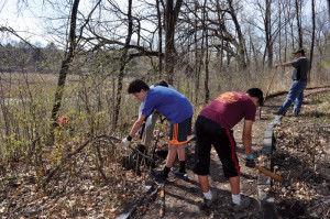 Scouts repair Eden Prairie's Central Middle School nature trail