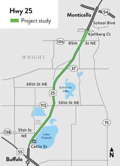 Highway 25 map