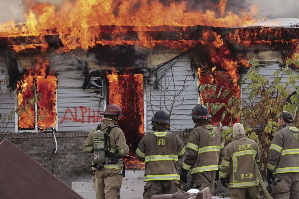 Local firefighters burn down two homes  for training exercise