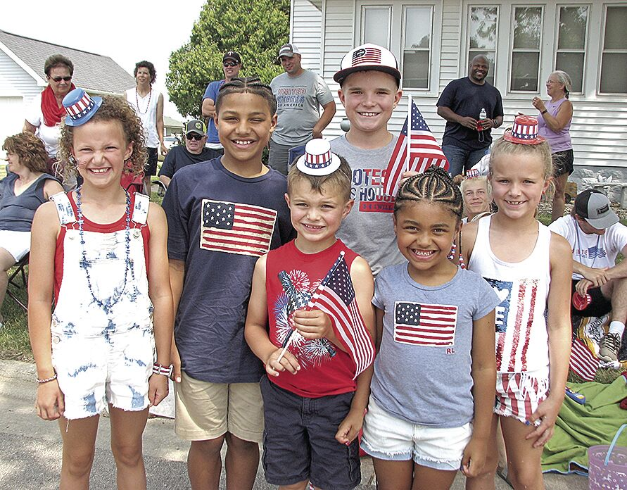 Patriotic kids on a patriotic holiday