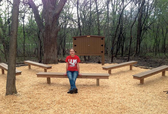Enjoyable Eden Prairie Girl Scout Develops Outdoor Classroom For Gold Uwap Interior Chair Design Uwaporg