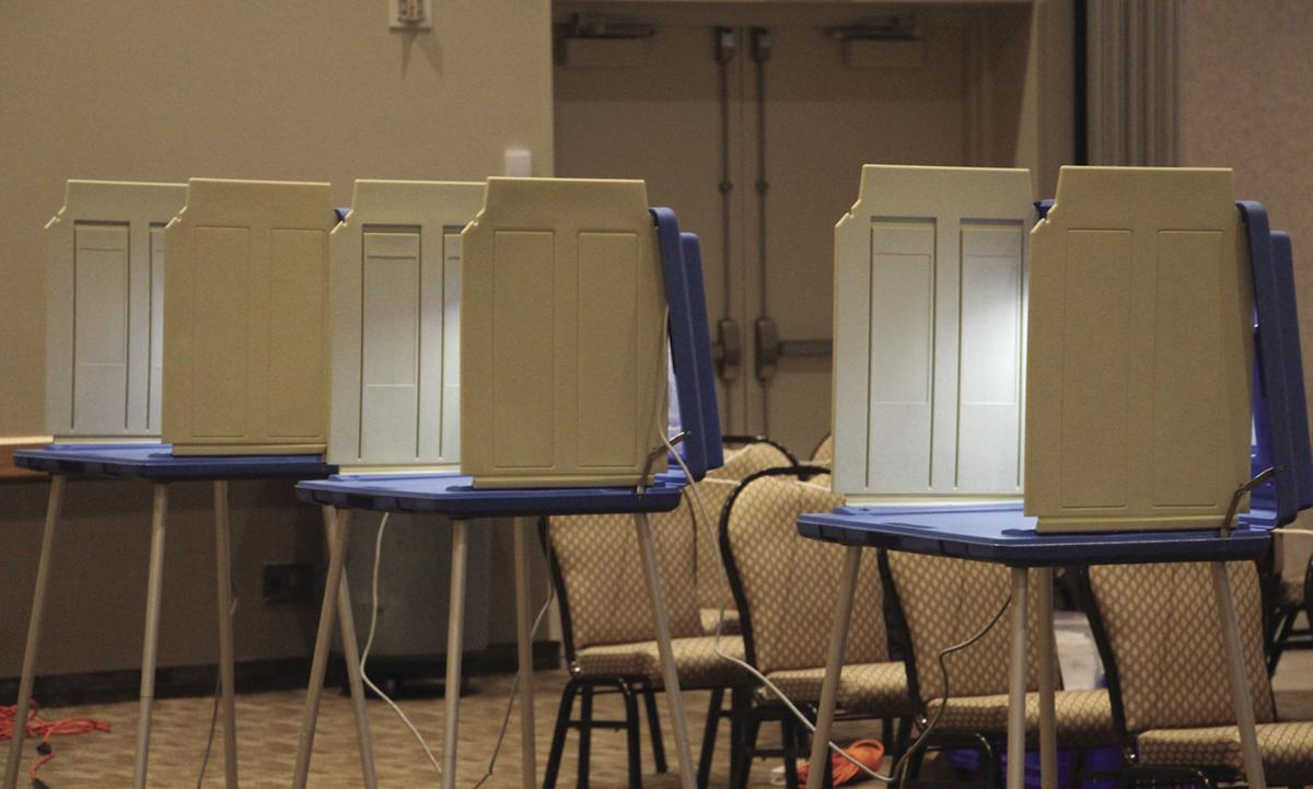 Voting booths are open