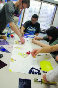 Transition Plus students create mosaics, express love of school