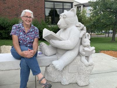 Bunny and Bear sculpture