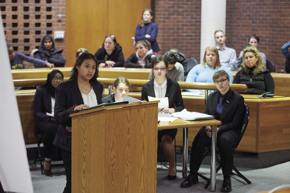 St. Louis Park Middle School students participate in mock trials - 1