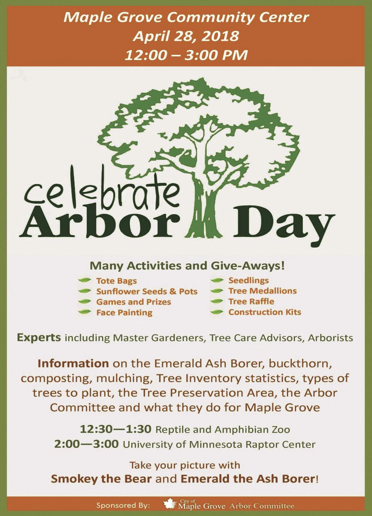 Learn all things trees at the Maple Grove Arbor Day event | Free ...