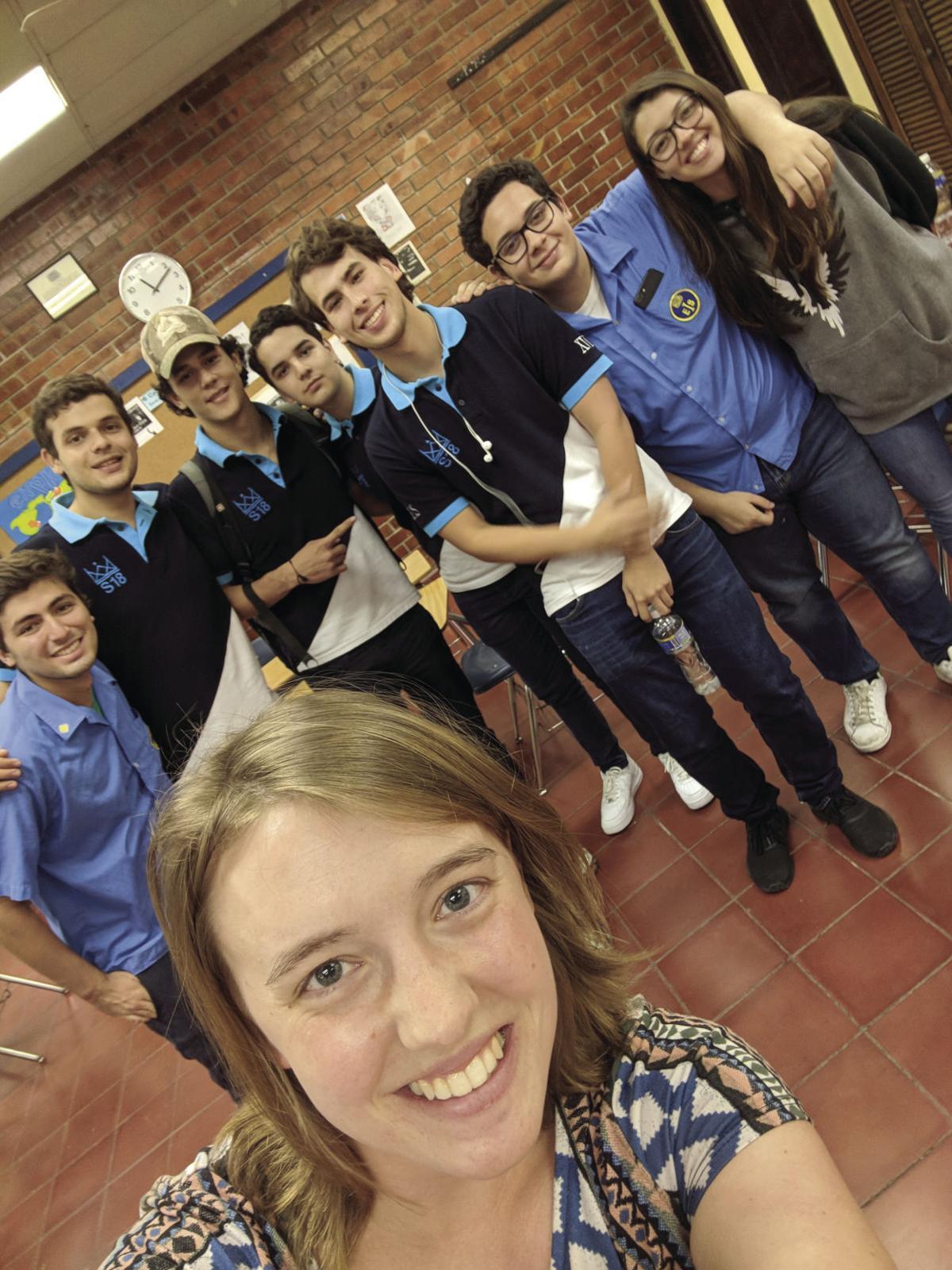 Hannah and students.jpg