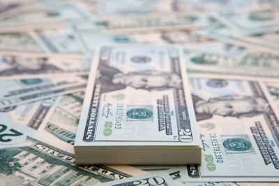 Money cash stack