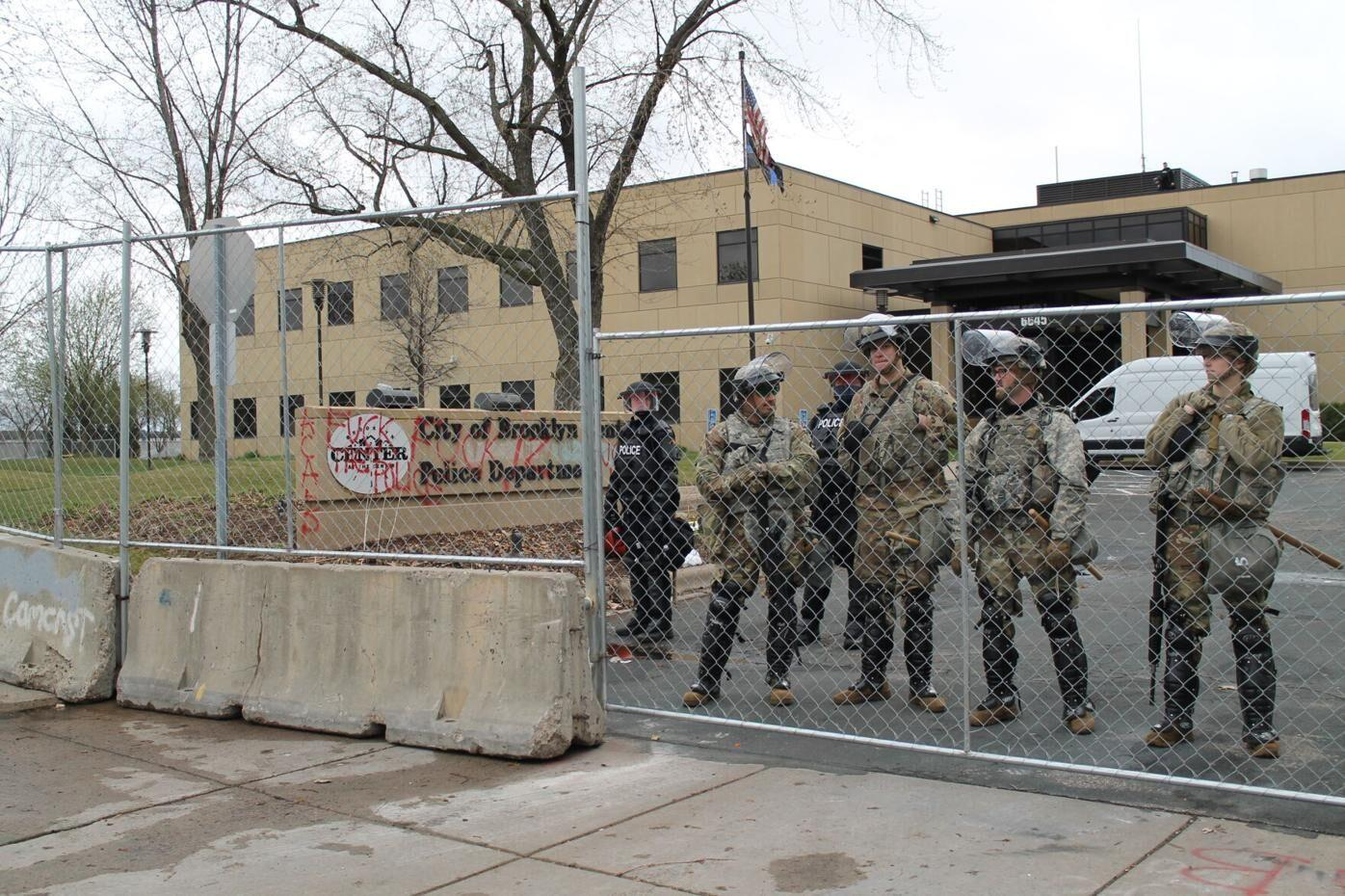 National Guard outside Brooklyn  Center Police Department