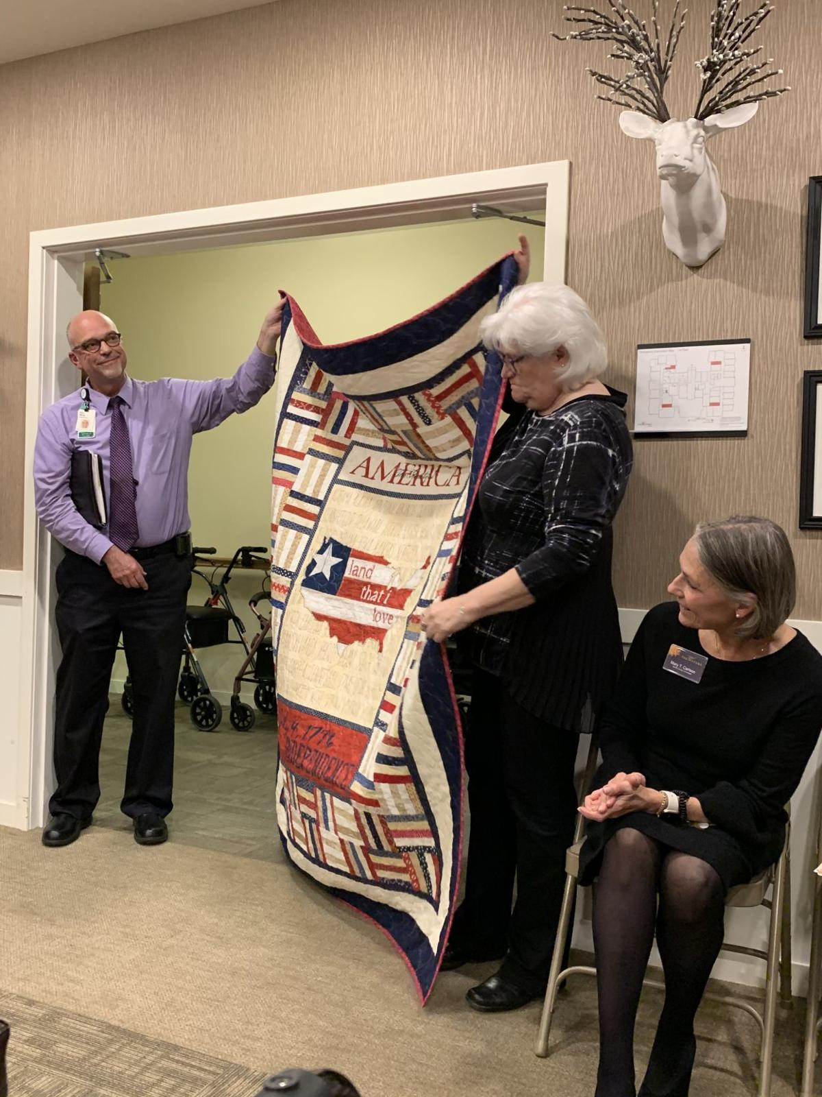 Quilts of Valor - presenting